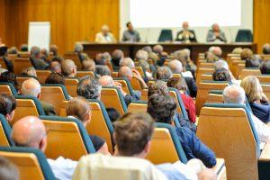 Citizens attending a meeting