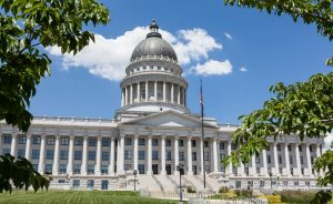 Utah State Capitol Building in Salt Lake City Front Facade and Dome