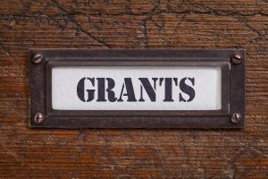 Sign with the word GRANTS